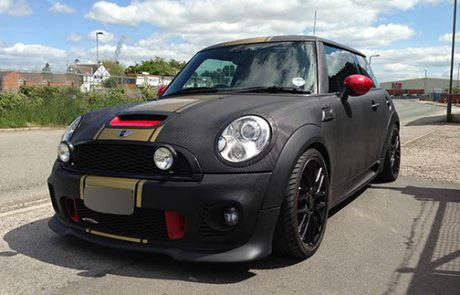 carbon fibre mini cooper wrap