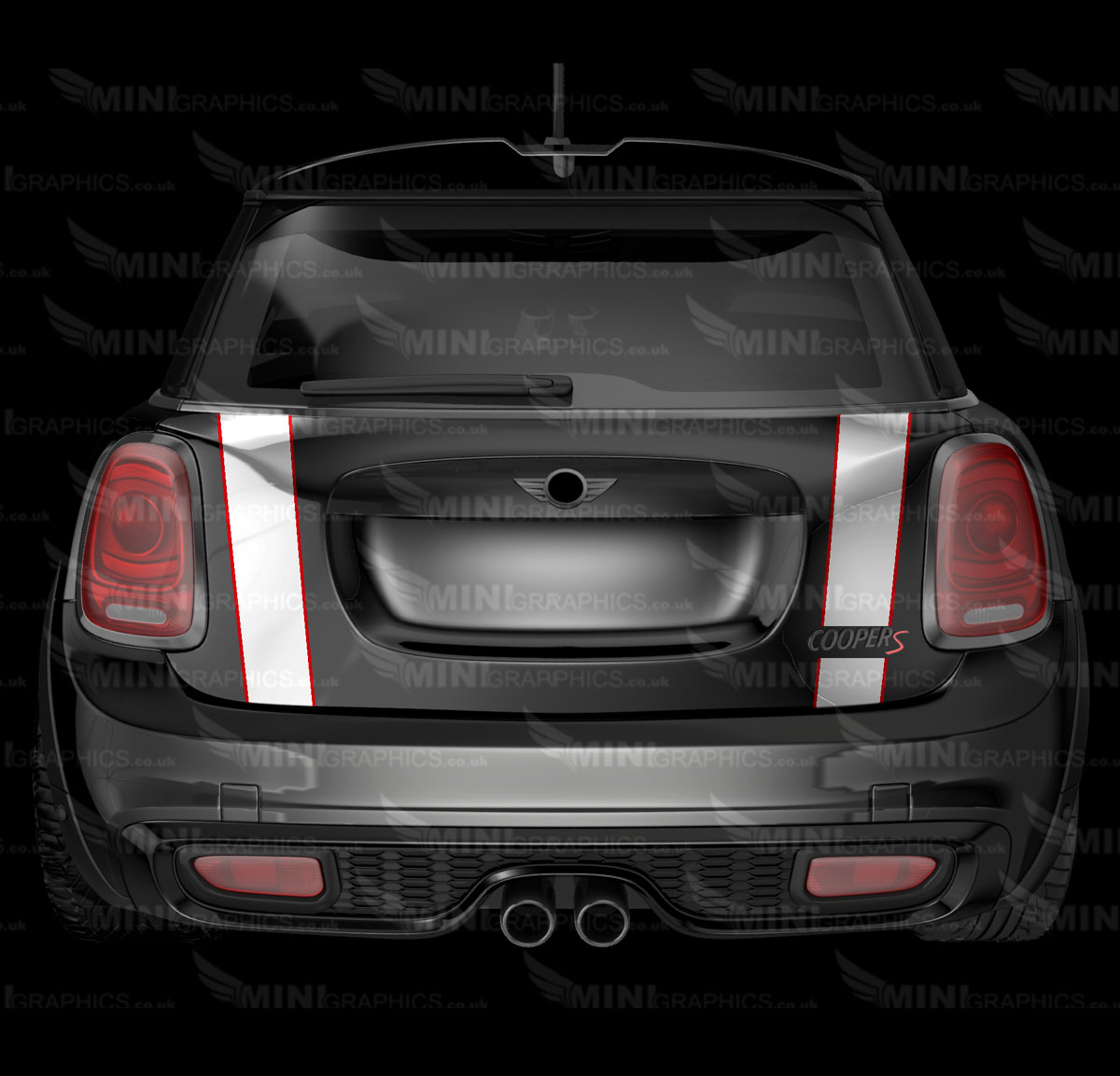 mini graphics pinstripe boot trunk