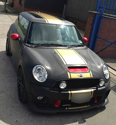 carbon fibre mini wrap and gold vipers