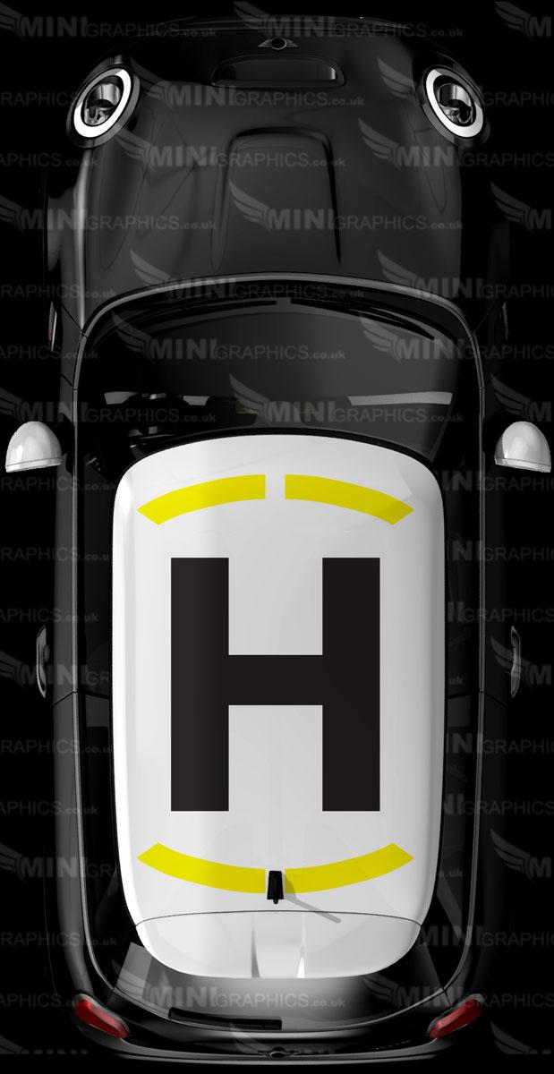 mini helipad roof graphic