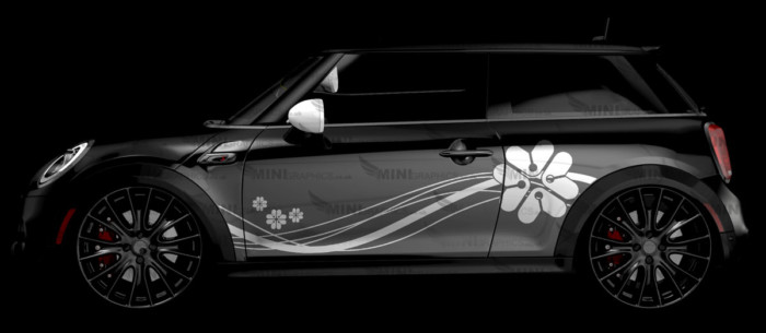 Tech Floral mini graphics side stripes