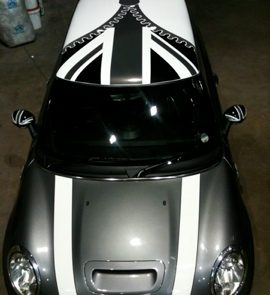 union jack mini declas for the roof and bonnet