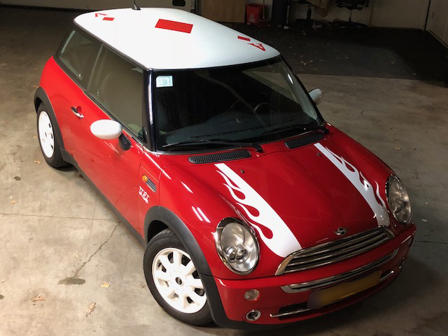 Mini Graphics Bonnet Stripes Boot Stripes Side Stripes Roof And A