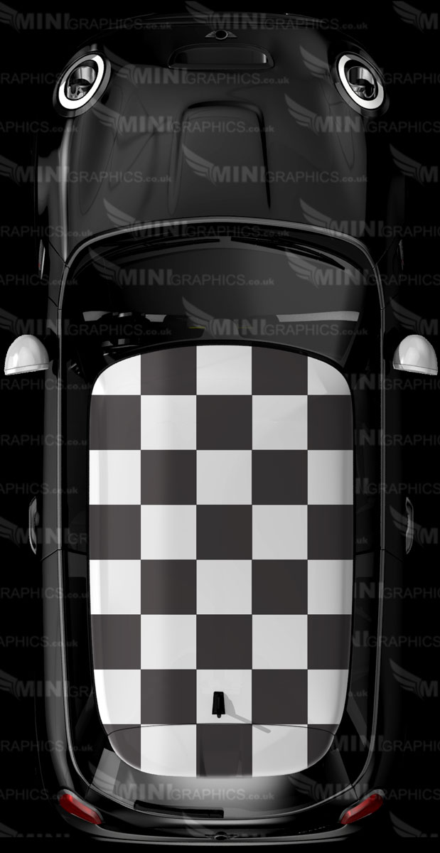 Mini Graphics Roof Decal Checkered Roof