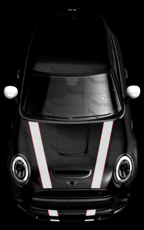 MINI Graphics Bonnet stripes