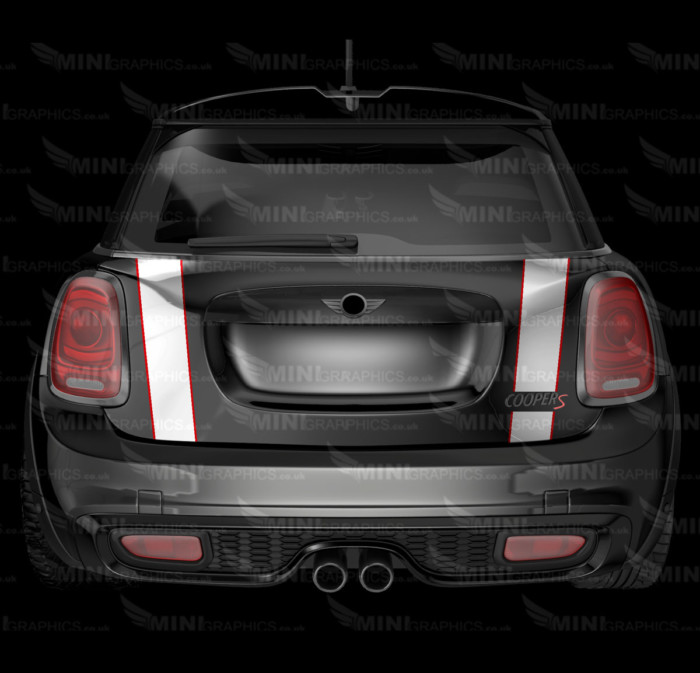 mini graphics pinstripe boot trunk