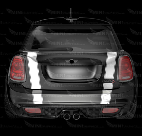 mini graphics triple boot and bumper stripes