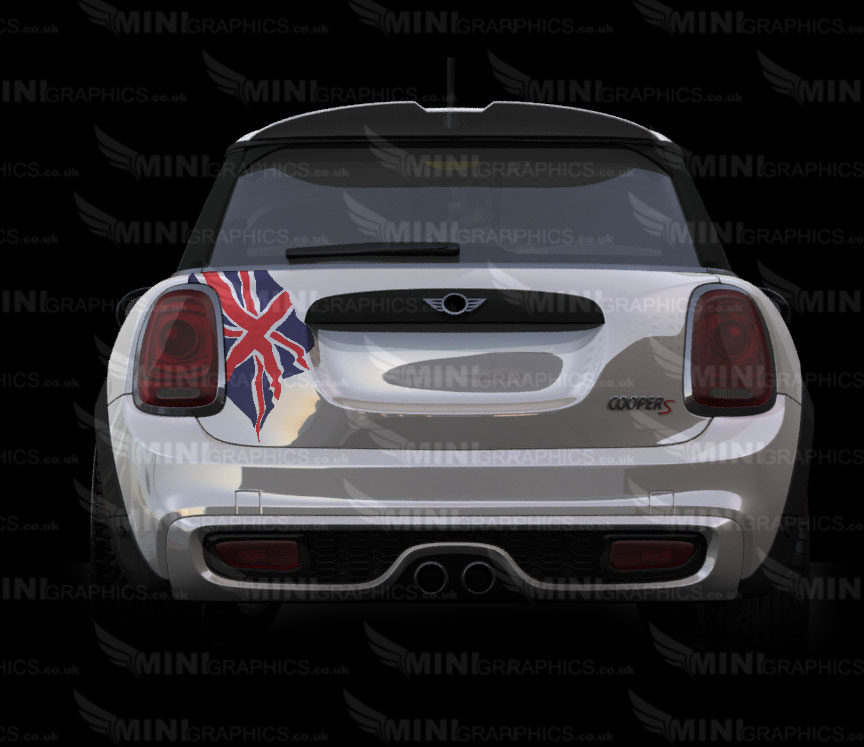 Mini Graphics Boot Decals Union Jack Pattern